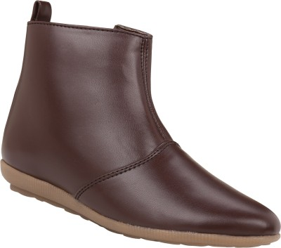 Exotique Flat Boots(Brown)