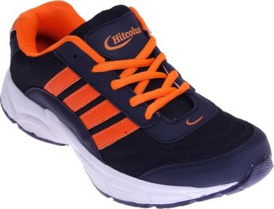 Hitcolus Navy Blue & Orange Running Shoes