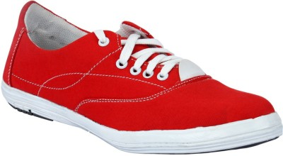 Drivn Mens Canvas Shoes(Red)