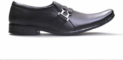 Big Wing Smart Black Formal Slip On Shoes