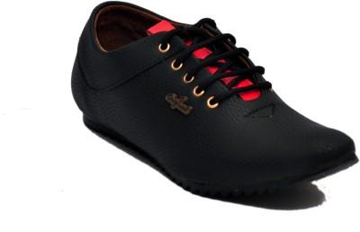 Shoe Mate Black Casual Shoes