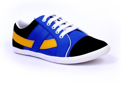 Sam Stefy Blue Black Yellow A33 Canvas Shoes