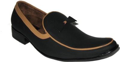 Jajos Black Fancy Loafer Loafers