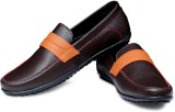 Braavosi Vibrant Loafers (Brown, Orange)