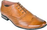 Shoebook Brogue Shoes Lace Up (Tan)
