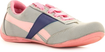 Select Grey-Pink Sporty Walking Shoes