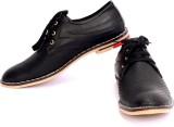 Sam Stefy Black Casual Shoes (Black)