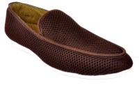 Raja Fashion Brown Canvas Loafers(Brown)