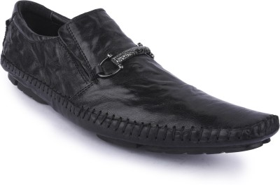 Buckleup MENS LEATHER SHOES BU0022_BLACK-Size-8 Lace Up(Black)
