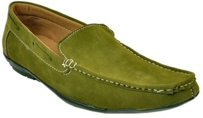 Raja Fashion Synthetic Green Loafers