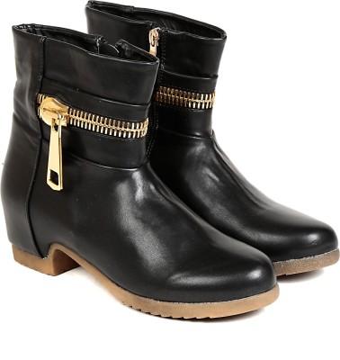 TEN TEN Womens Black Mid Length Boots Boots