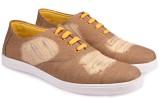 True Soles Men's Beige Denim Sneakers (B...