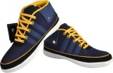 NY Eagle Blue Yellow Canvas Shoes (Blue)