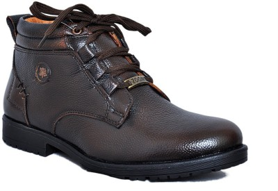 Zoom Zoom Branded Men's Pure Leather Casual Shoes D-3571-Brown-6 Lace Up