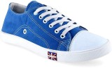 TheWhoop Casual Canvas Shoes (Blue, Whit...