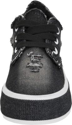 Advin England Black Denim Love Canvas Shoes