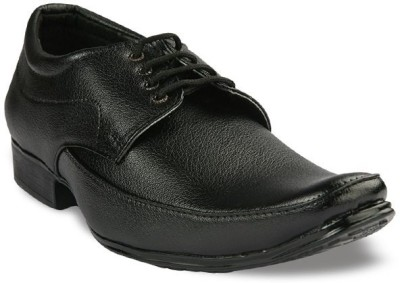 Welldone Mens Black Perfect Quality office Purpose Shoes Lace Up