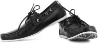 Kenneth Cole Name Game Men Boat Shoes(Black)