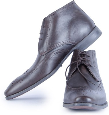 Burkley Brown KelverHi Pure Leather Formal Shoes Party Wear