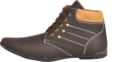 NY Eagle Brown LaceUp Boots