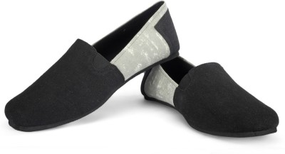 FUNK Kard Black with Faded Grey Canvas Shoes