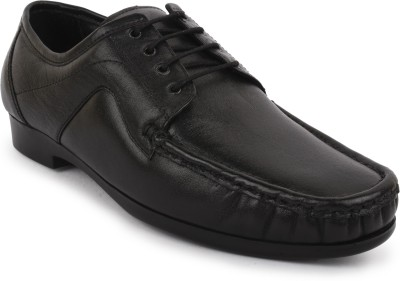 Buckleup MENS LEATHER SHOES BU0041_BLACK-Size-8 Lace Up(Black)