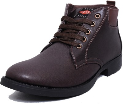 Black Tiger Men's Synthetic Leather Casual Shoes 095-Brown-9 Casuals