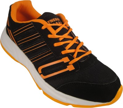 Action Synergy 7148 Black/Orange Sports Walking Shoes