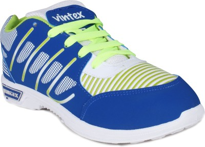 Histeria Stlistry Vintex White Blue & Green Running Shoes