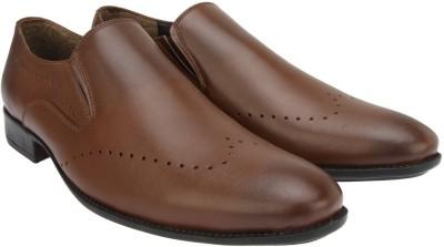 Brigit Wing Tip Formal Shoes Brown Slip On