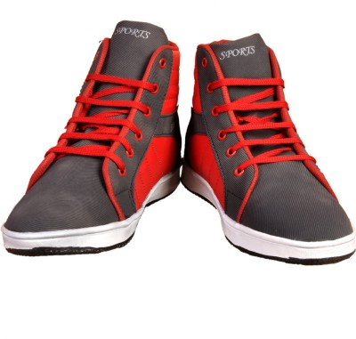 Stylords Ankle Black-Red Sneakers