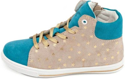 Drish Turquoise And Star Print Casual Shoes