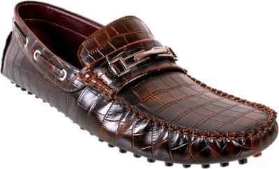 Tiger Wood Crocodile Loafers