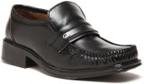 Zapatoz Black Office Slip On Shoes (Blac...