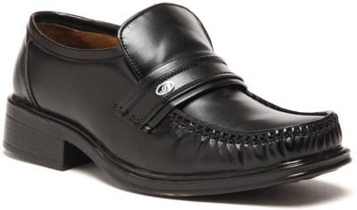 Zapatoz Black Office Slip On Shoes