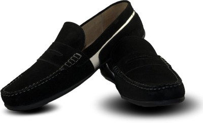 Blue Harpers Stylish Black Suede Loafers