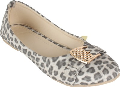 Authentic Vogue Tiger Print With Buckle Ballerinas Bellies