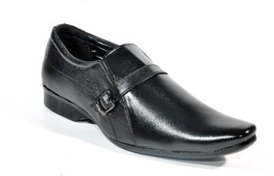 Big Wing Comforts Black Slip On Shoes
