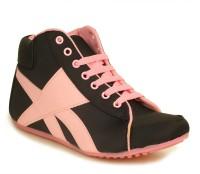 Select Black/Pink Sneakers(Black, Pink)