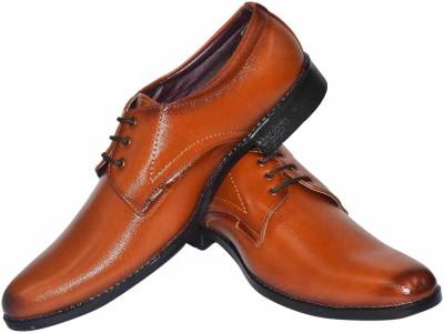 Human Steps Shining Tan Lace Up Shoes