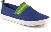 DeVEE Contrast Color Navy - Green Canvas Shoes(Blue, Navy)