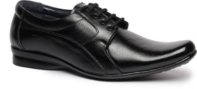 Feather Leather Genuine Leather Black Formal Shoes 043 Lace Up Shoes