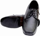 Leather King Lace Up Shoes (Black)