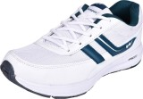 Campus Running Shoes (White, Green)