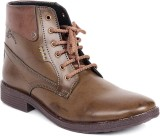 Red Marine Boots (Brown)