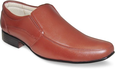 Sapatos Brown Genuine Leather Slip On Shoes