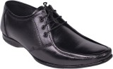 Leather Wood Lace Up Shoes (Black)