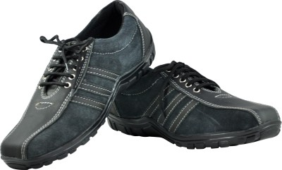 Alpha Man Black Upon Navy Blue Casual Shoes