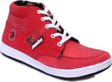 Marcbeau Panther Canvas Shoes (Red, Red)