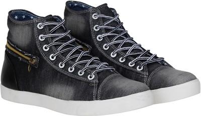 Kraasa Premium Sneakers, Boots, Canvas Shoes, Dancing Shoes(Black)